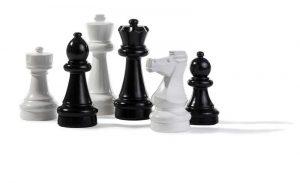 Rolly Toy Trädgårdsschack litet. Schackspel med klassiska schackpjäser 20-30cm