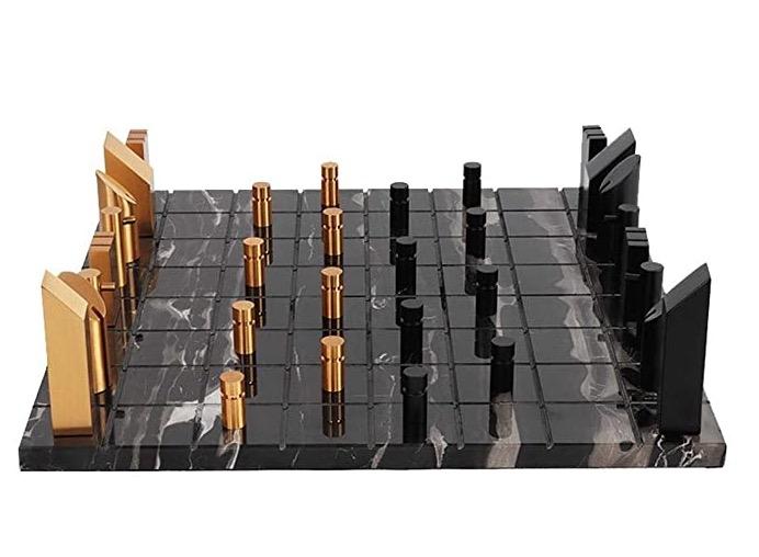 modernt schack marmor