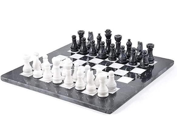 Schackbräde marmor handtillverkat