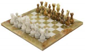 Schackspel i Marmor