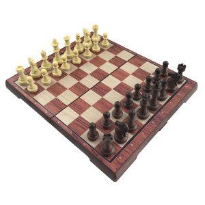 Schack Set - Svart/Vita Pjäser 31,5x27,2cm