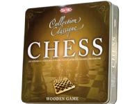 Tactic Collection Classique Chess, Schackset för bord, Schackbräde i en del, Trä, Svart, Vit